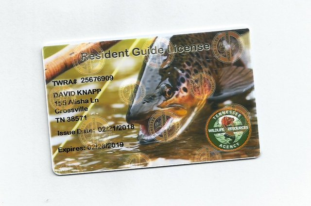 Fishing Guide license for Tennessee
